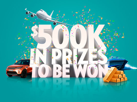 NEW RAFFLE WITH $500K OF PRIZES