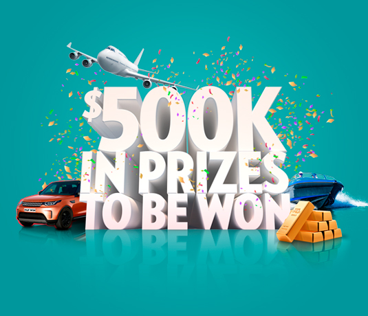 Over $500K in prizes to be won